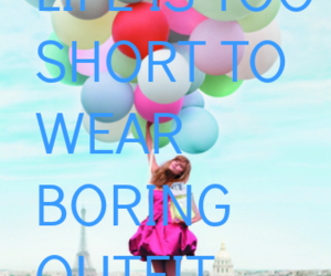 baloon, blue, and dress image