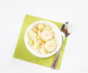 apples, banana, and cottage cheese image