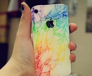 iphone, apple, and rainbow image