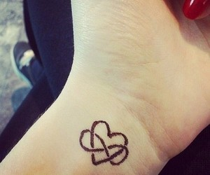 tattoo, heart, and infinity image