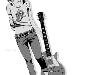 guitar, anime, and rock image