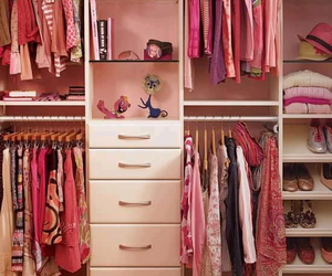 pink, closet, and clothes image