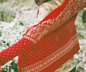 red, sweater, and winter image