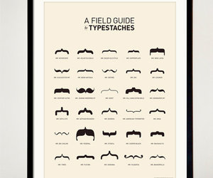 braces, typography, and moustache image