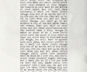 little things, Lyrics, and typography image