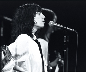 black and white, Patti Smith, and music image