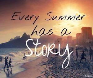 summer, story, and beach image