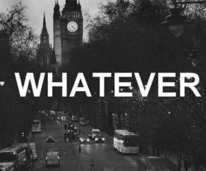 whatever, london, and black and white image