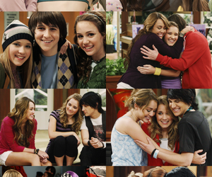 hannah montana, miley cyrus, and mitchel musso image
