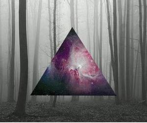 galaxy, forest, and triangle image