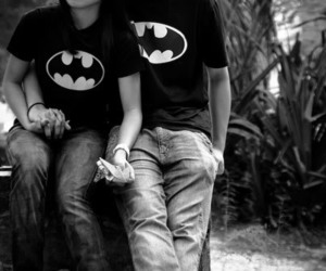 batman, couple, and boy image