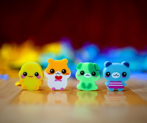 cute, animal, and eraser image