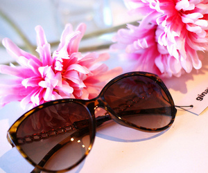sunglasses, fashion, and flowers image