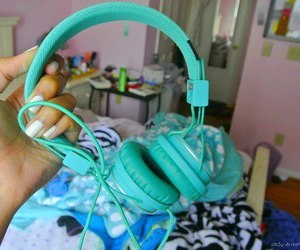 blue and headphones image