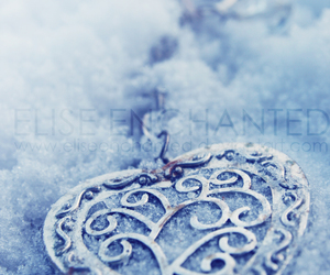 blue, heart, and winter image