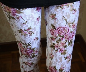 fashion, flowers, and tights image