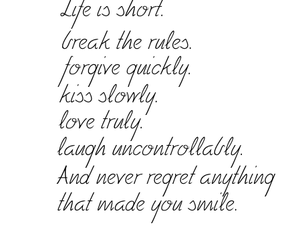 life, quote, and kiss image
