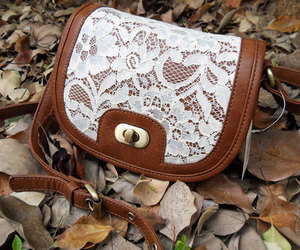 fashion bags, retro bag, and lace backpack image