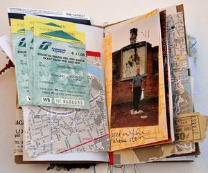 notebook and travel journal image
