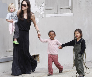 Angelina Jolie, brad pitt, and pax image