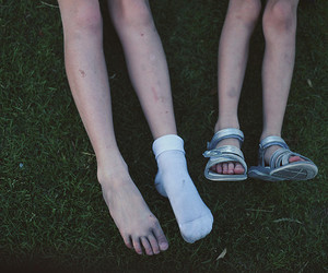 beautiful, feet, and grass image