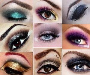 eyeliner, fashion, and eyes image