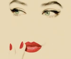 red, eyes, and lips image