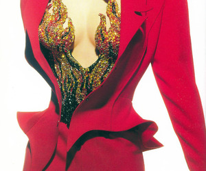 fashion, red, and thierry mugler image