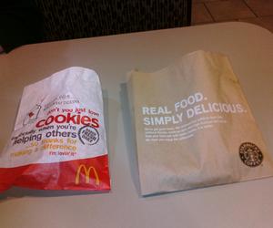 Cookies, McDonalds, and starbucks image