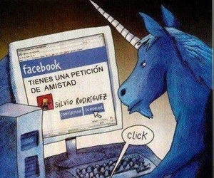 facebook, unicorn, and silvio rodriguez image