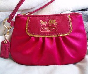 pink, coach, and fashion image
