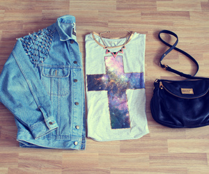 clothes, fashion, and galaxy image