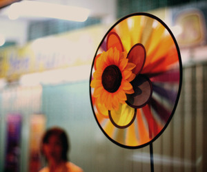 fan, flower, and spinning image