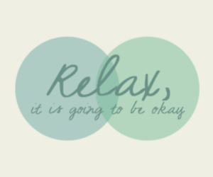 relax, quote, and life image