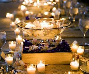 candle, light, and wedding image