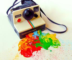 polaroid, camera, and colors image