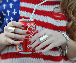 coca cola, red, and usa image