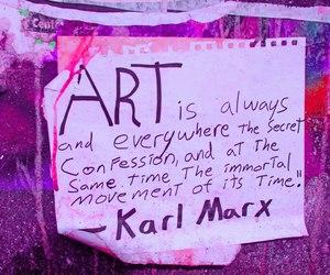 art, karl marx, and purple image