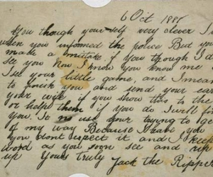 jack the ripper, Letter, and note image