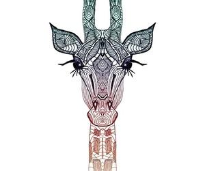 giraffe, animal, and art image