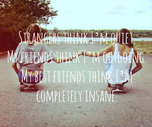 best friends, insane, and photo image