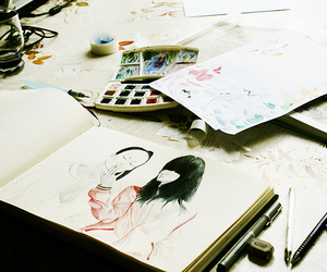 drawing, vintage, and art image