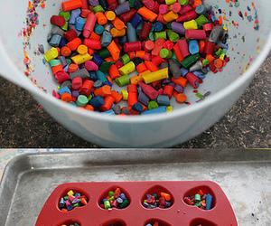 crayon, diy, and colors image