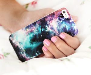 iphone, galaxy, and nails image