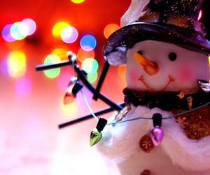 christmas, snowman, and light image