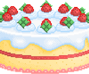 cake, pixel, and kawaii image