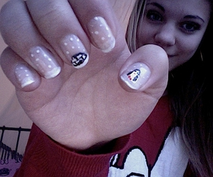 nails, penguin, and snow image