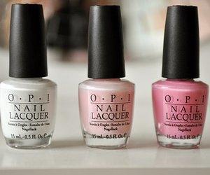 opi, pink, and nails image