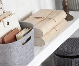 interior, white, and books image