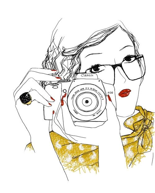 illustration, camera, and canon image